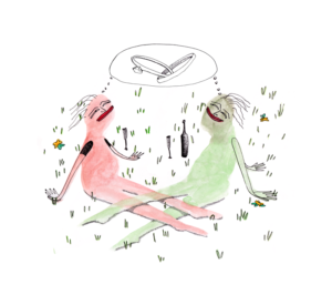 Illustration by Eleni Kontos for Macha Jewelry